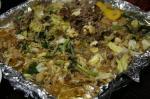 行者にんにくをつかった肉野菜炒め